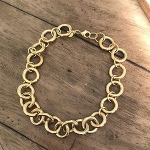 J. Crew gold plated chain link necklace